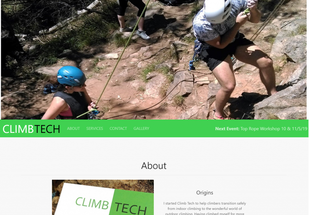 Picture of Climb Tech landing page by Ascent Designs